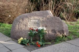 Gedenkstein im Stadtteil Neu-Olvenstedt