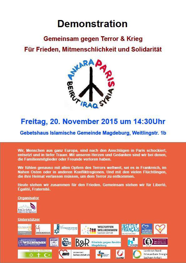 151120 Demo Gemeinsam gegen Terror und Krieg