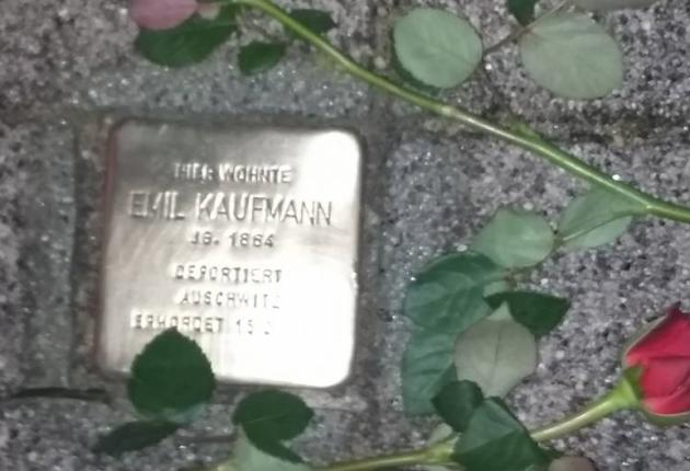 160113 Stolperstein Kaufmann
